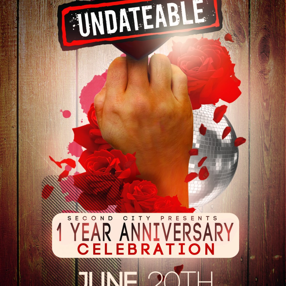 Second City Undateable Party Flyer